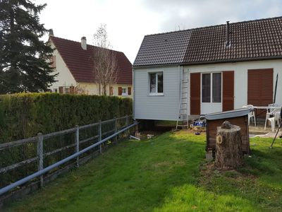 Extension ossature bois - bardage sapin - 1