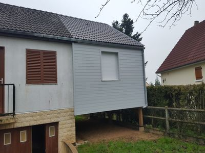 Extension ossature bois - bardage sapin - 2